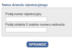 Jak sprawdzić status dowodu rejestracyjnego naInfoCar